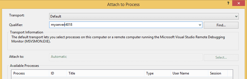 Remote debugging ASP  NET in Visual Studio 2013   Christian